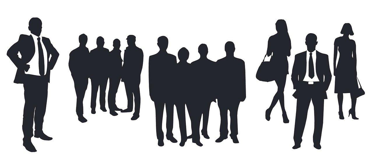 people, business, corporate
